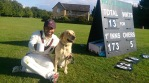 Dog & scoreboard